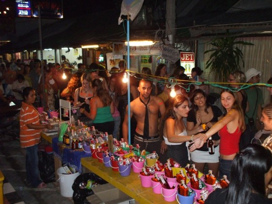 Full Moon Party drink buckets via A.Haldun ONUK