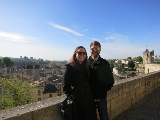 Overlooking the village of St. Emilion in the Bordeaux region