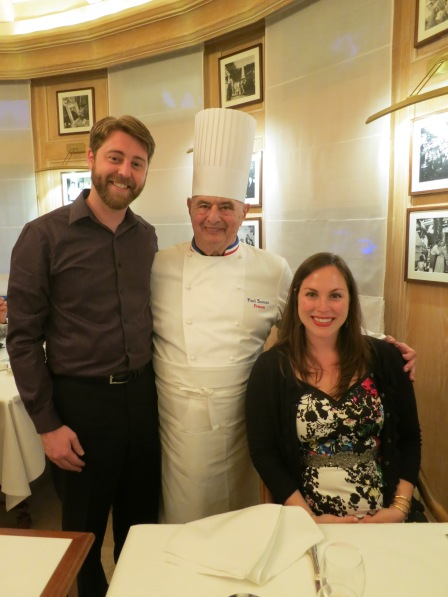 Paul Bocuse at his restaurant in Lyon