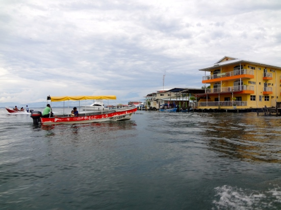 Water taxis in Bocas del Toro