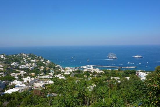 A view of the Capri harbor
