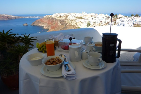 santorini breakfast