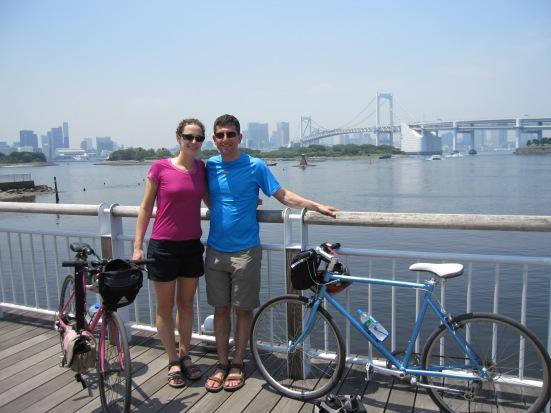Bike riding in Tokyo