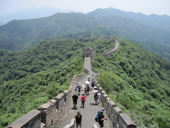 The Mutianyu section of the Great Wall of China