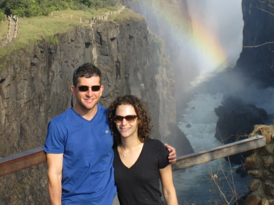 At Victoria Falls in Zambia