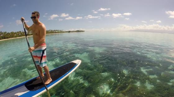 tahiti paddle boarding