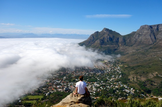 Dylan chilling at the top of Lion's Head