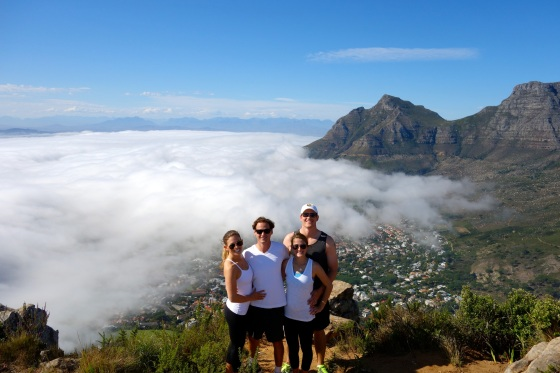 Group shot at the top of Lion's Head