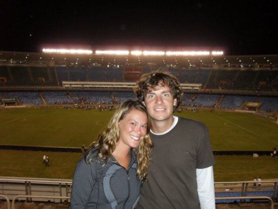 Aaron and me in Maracanã
