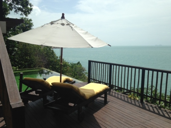 View from the deck at Six Senses, Koh Samui