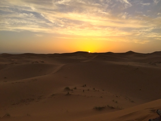 Sunrise in the Sahara
