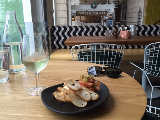 Wine and a snack at Manly Wines