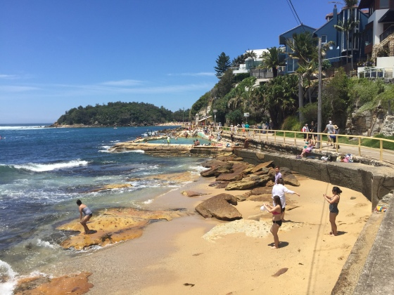 The walk to Shelly Beach