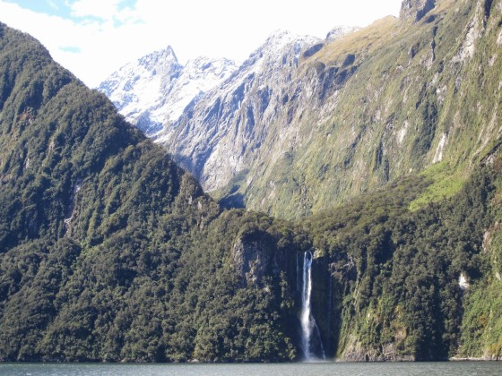 Waterfalls at Milford Sound