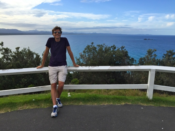 At the top of Cape Byron