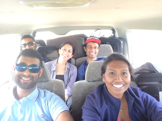 Traveling around Sri Lanka with friends