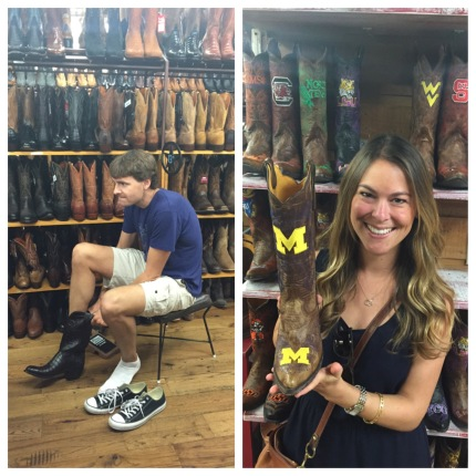 Had too much fun at Allens Boots. They even had U of M ones!