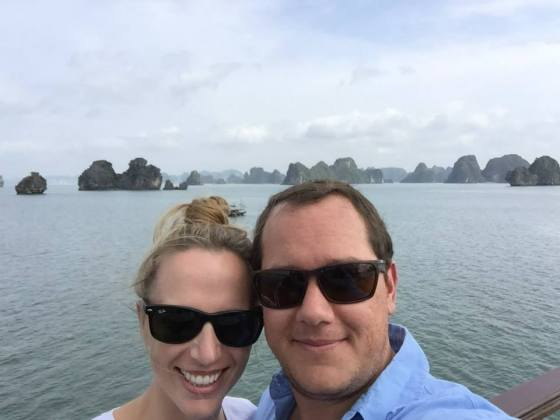 Sarah and Dos in Halong Bay
