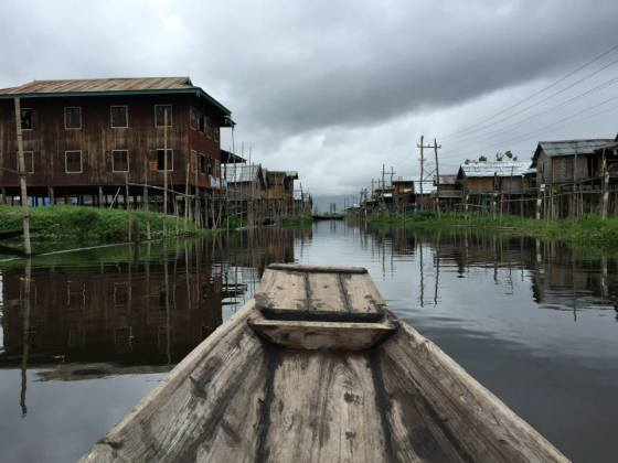 Canoeing in Inle Lake